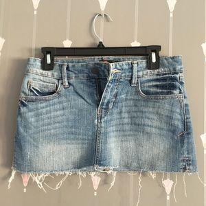 Blue jean skirt mini